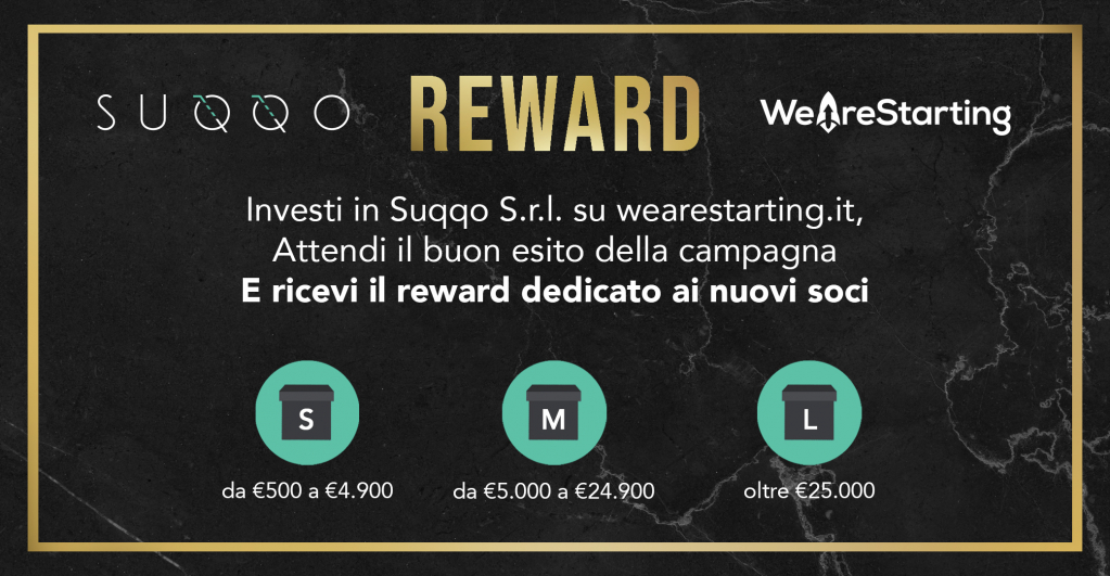 reward investitori suqqo crowdfunding wearestarting.jpg
